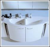 Doppelwaschtisch geschwungen  Badmöbel, Badeinrichtungen, Badezimmereinrichtungen, Fliesen ...